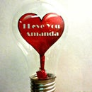 Paper Heart In Light Bulb