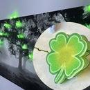 """Shrinky Dink Shamrock """"Lucky Light-Up Garland"""" St. Patrick's Day Decor"""