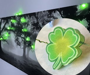 "Shrinky Dink Shamrock ""Lucky Light-Up Garland"" St. Patrick's Day Decor"