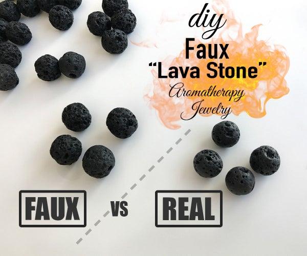Faux Lava Stone: Aromatherapy Jewelry