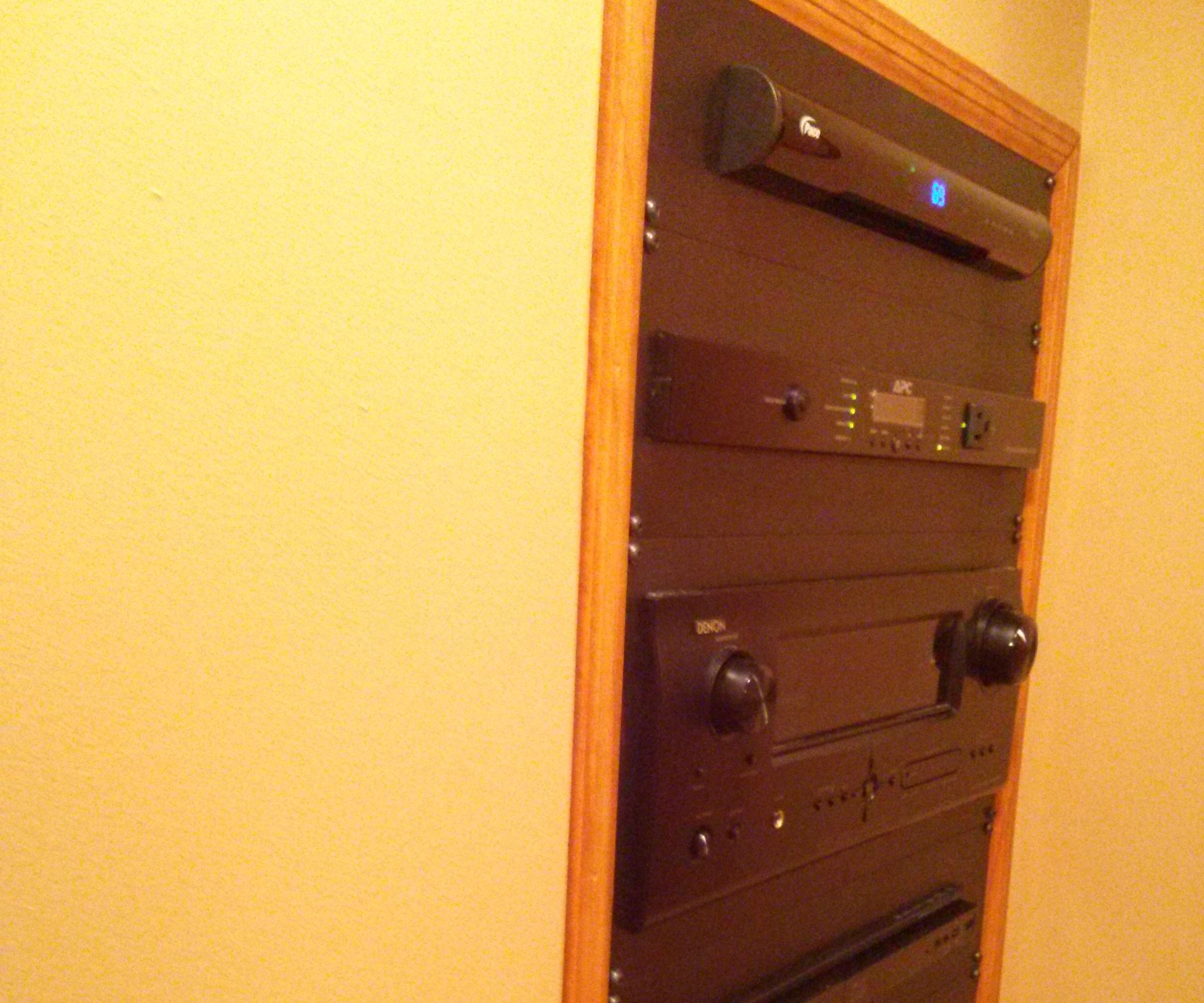 Easy In-Wall Theater Rack