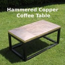 Hammered Copper Coffee Table
