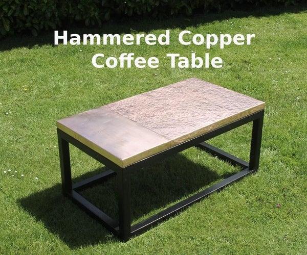 锤铜咖啡桌