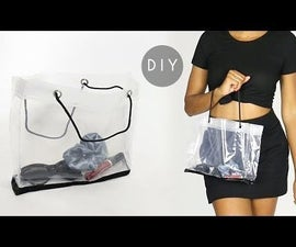 DIY Clear Tote Bag Purse (From a Shower Curtain Liner)