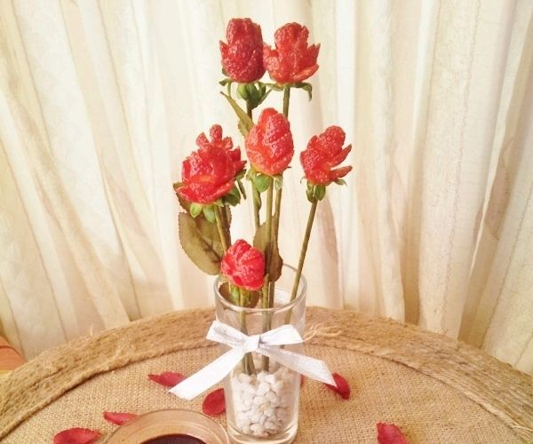 Strawberry Roses Table Centerpiece and Starter