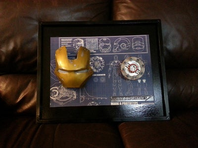 Iron Man: Arc Reactor + Face Plate + Led Frame Stand