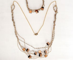 How to Make a Necklace and Bracelet Set Out of Wood & Cording