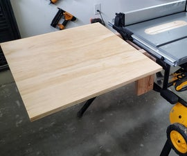 Table Saw Folding Outfeed Table