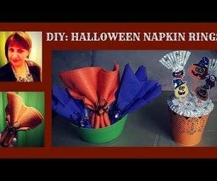 Halloween Season DIYs: Napkin Rings and Toothpicks Using Upcycled Items