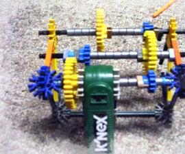 The K'nex 3 Speed Gearbox