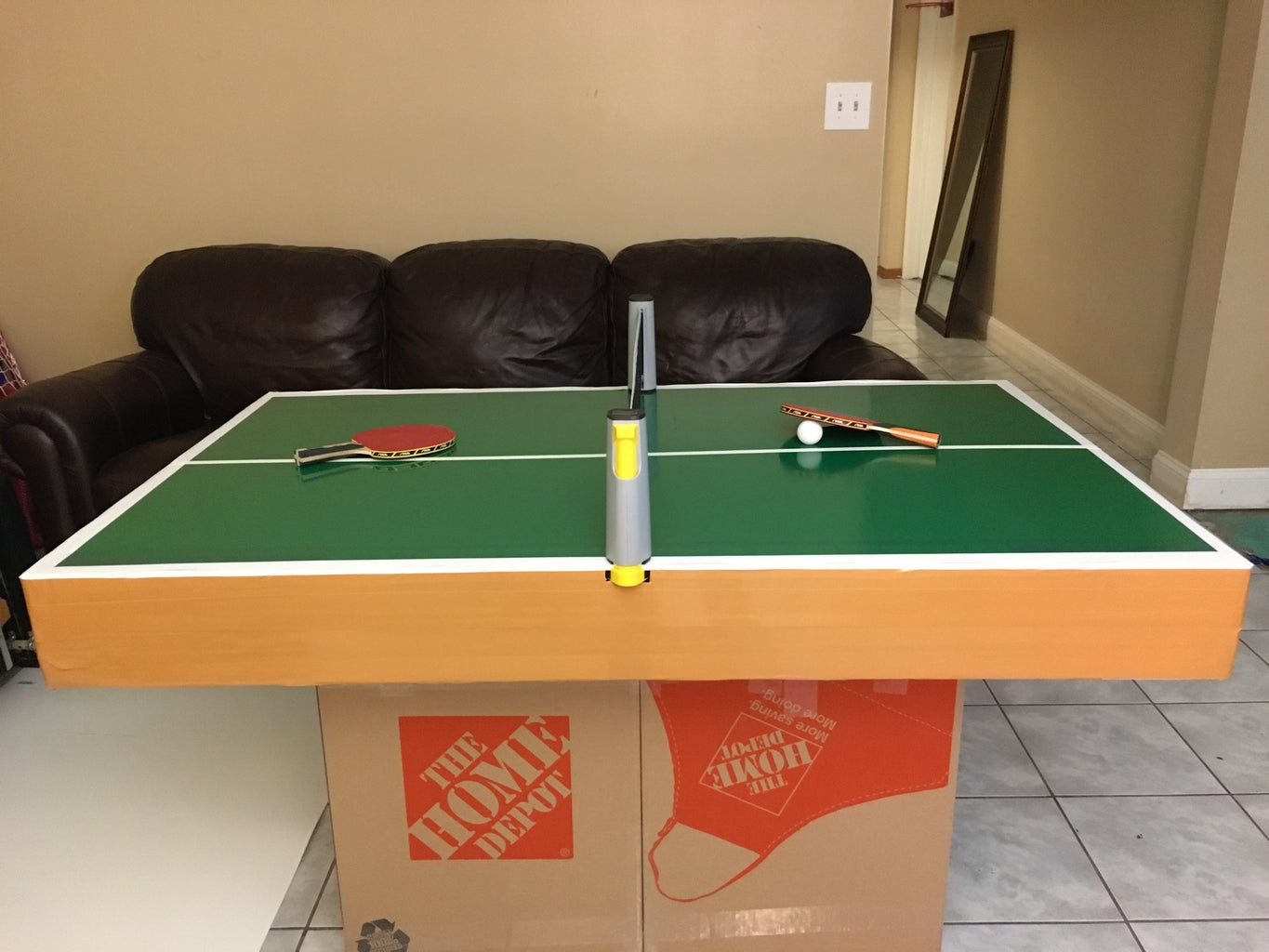 How to Make a Ping Pong Table Out of Cardboard