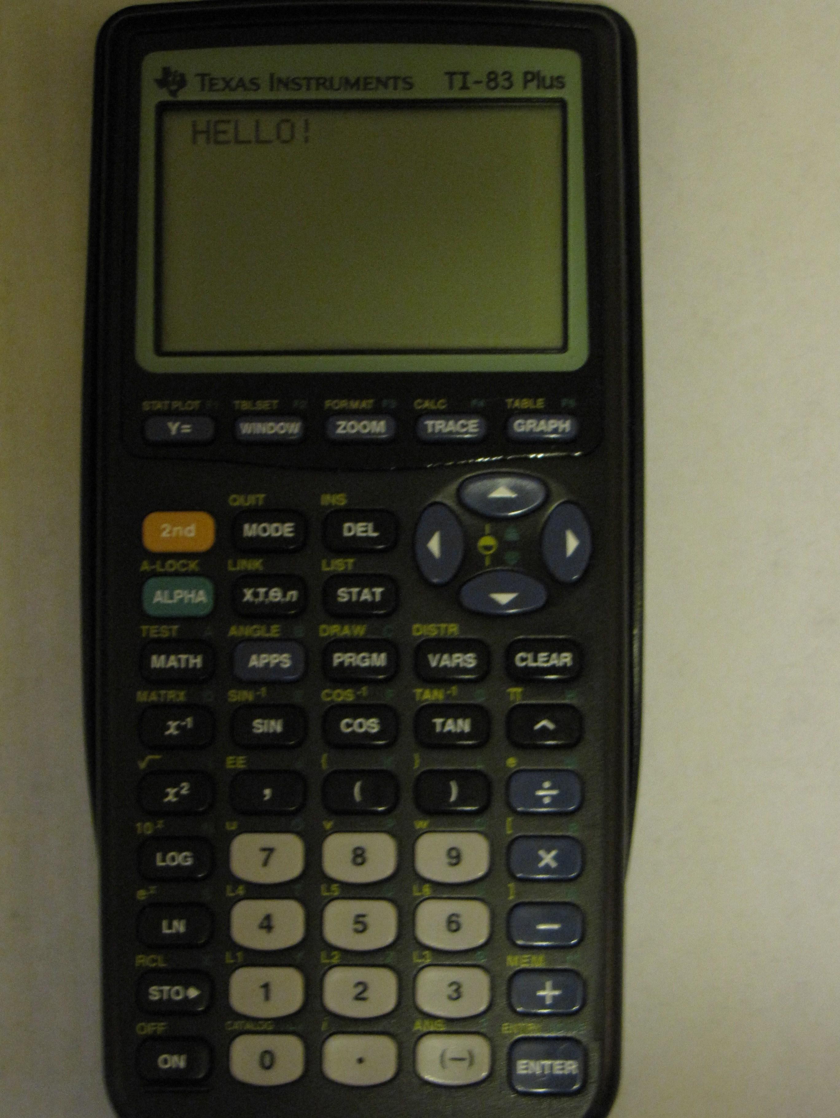Quadratic Formula for the TI-83 and 84