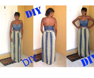 DIY Printed Maxi Skirt With Zipper (easy)