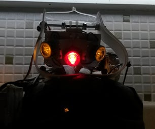 High Powered Helmet Light (Front, Side, and Rear Combo)
