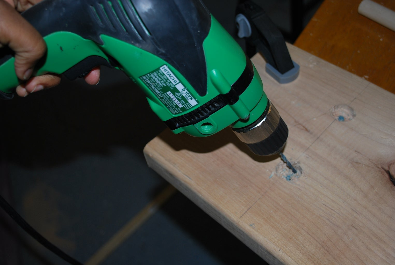 Drill Wood Screw Holes