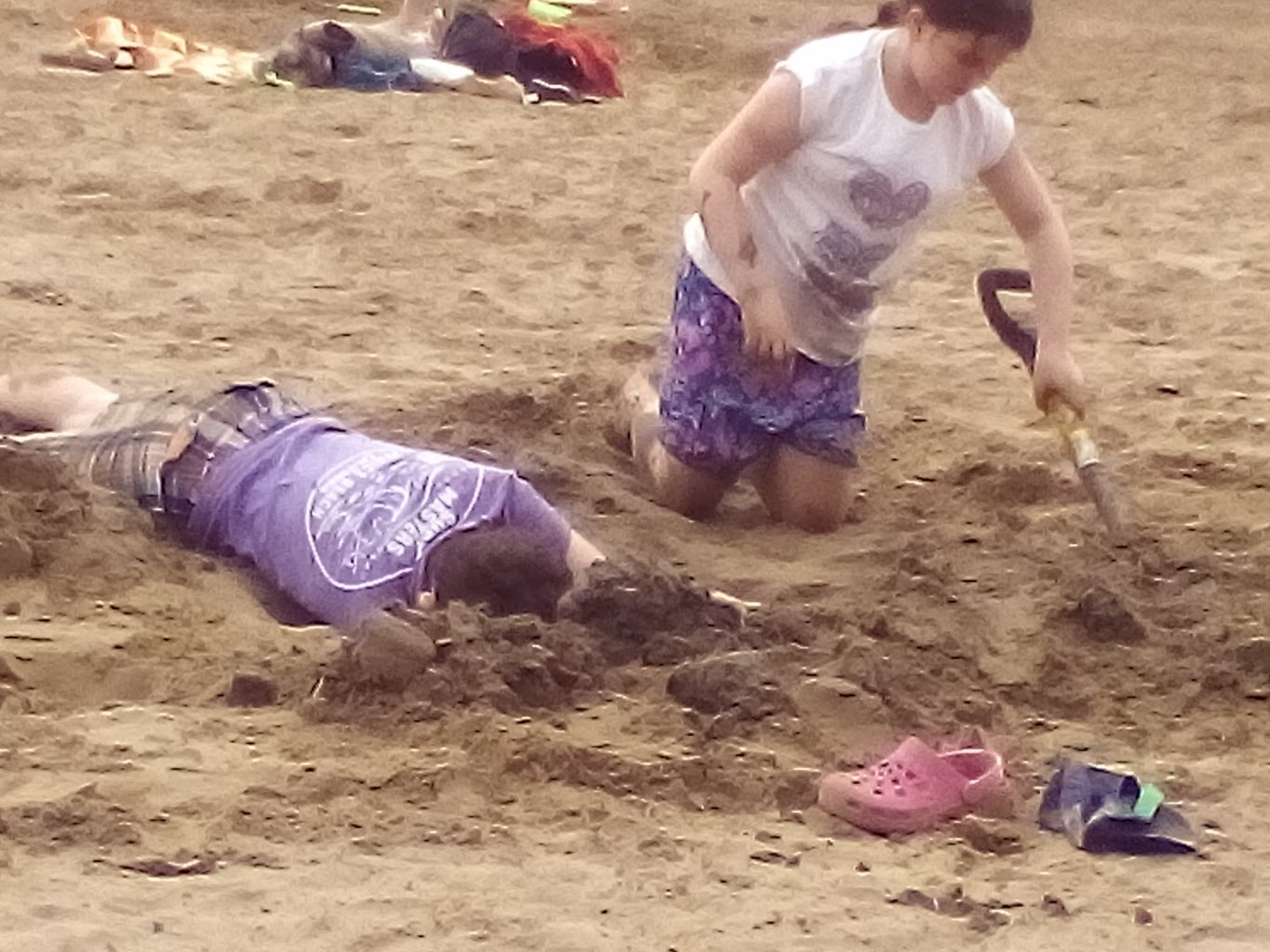 Get a Friend or Sister to Dig More......