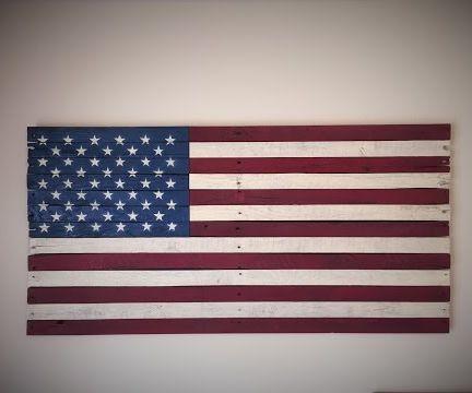 Rustic American Flag (pallet Wood)