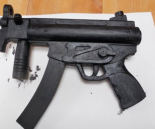 How to Make a H&K MP5K Out of Wood