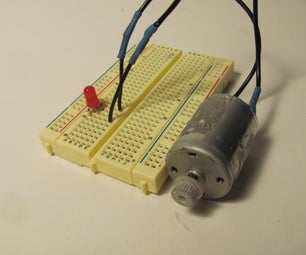 Drive an LED With a Motor!