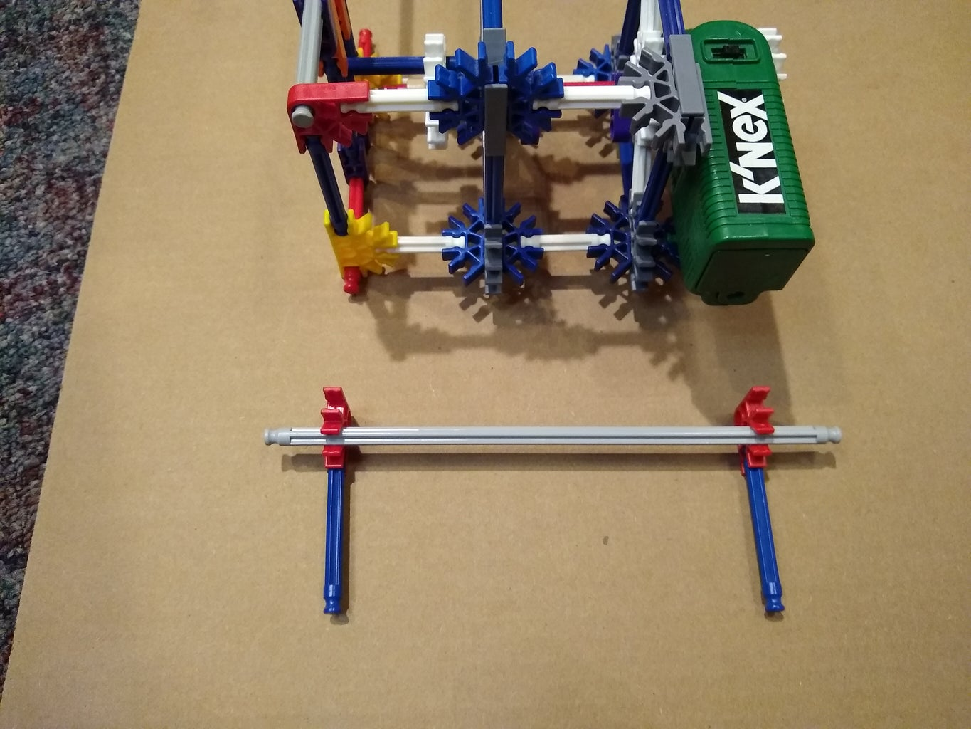 Add Support Feet to the End of the Motor/Yoke Assembly