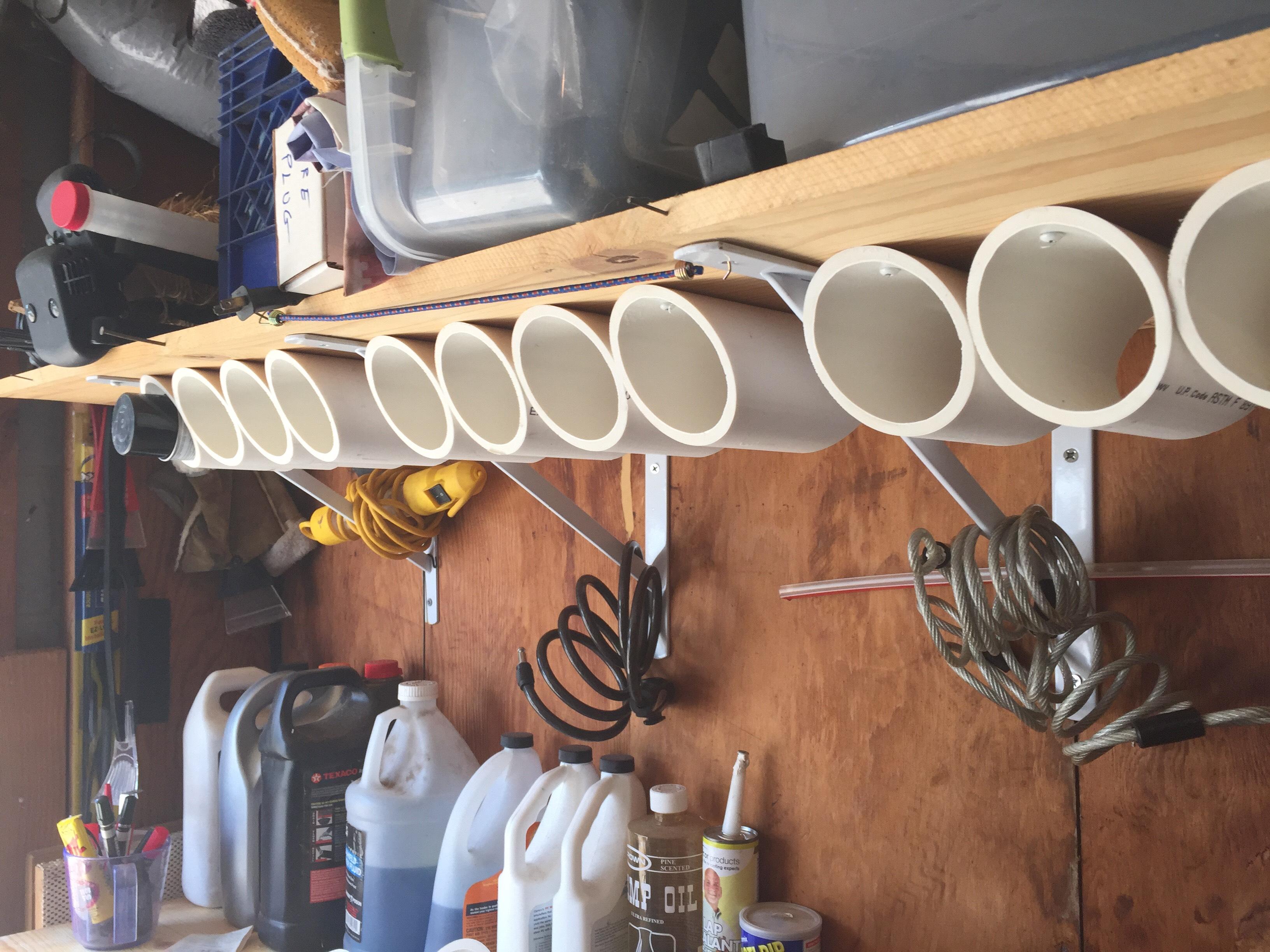 PVC Paint Can Storage