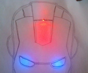 Photo Sensing Iron Man Face