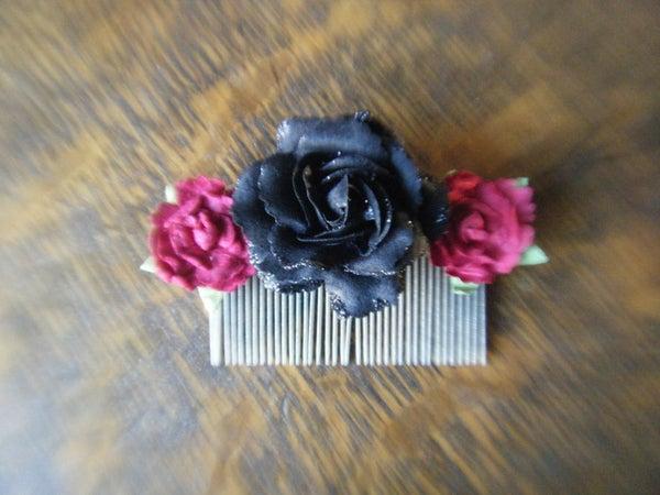 DIY Rose Hair Comb