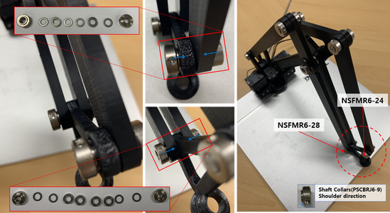 Install a Tool Link by Assemble a Rotation Axis With the Link 200 B Installed in Step 16 and the Tool Link, and Assemble Another Rotation Axis With the Link 250, the Link 200 B Installed in Step 15 and the Tool Link.