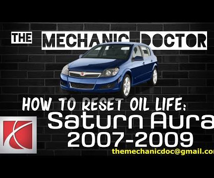 How to Reset Oil Life: Saturn Aura 2007-2009