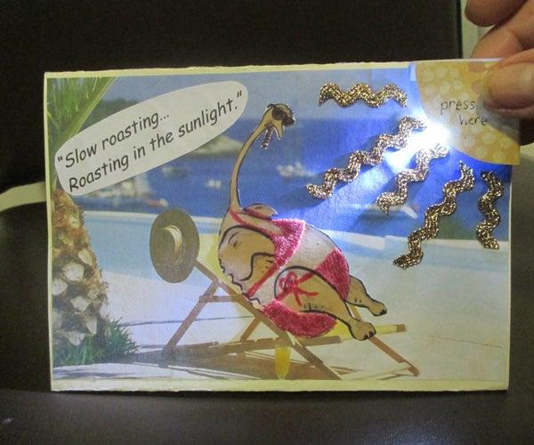 Light-up Thanksgiving Card