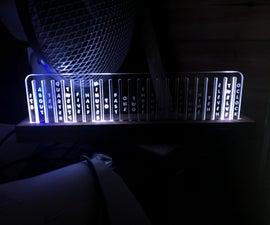 LED Aduino Horizontal Edge Lit Clock WemosD1