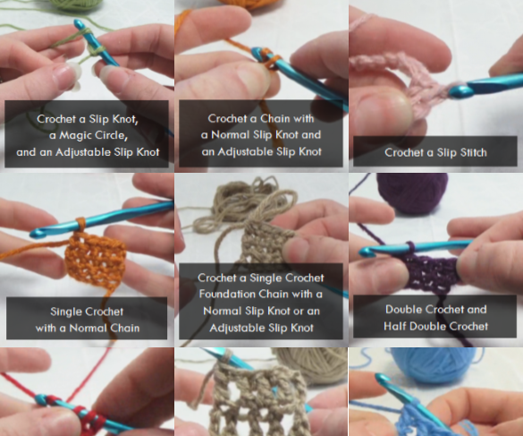 Crochet Basics - How to Crochet Common Stitches and Techniques