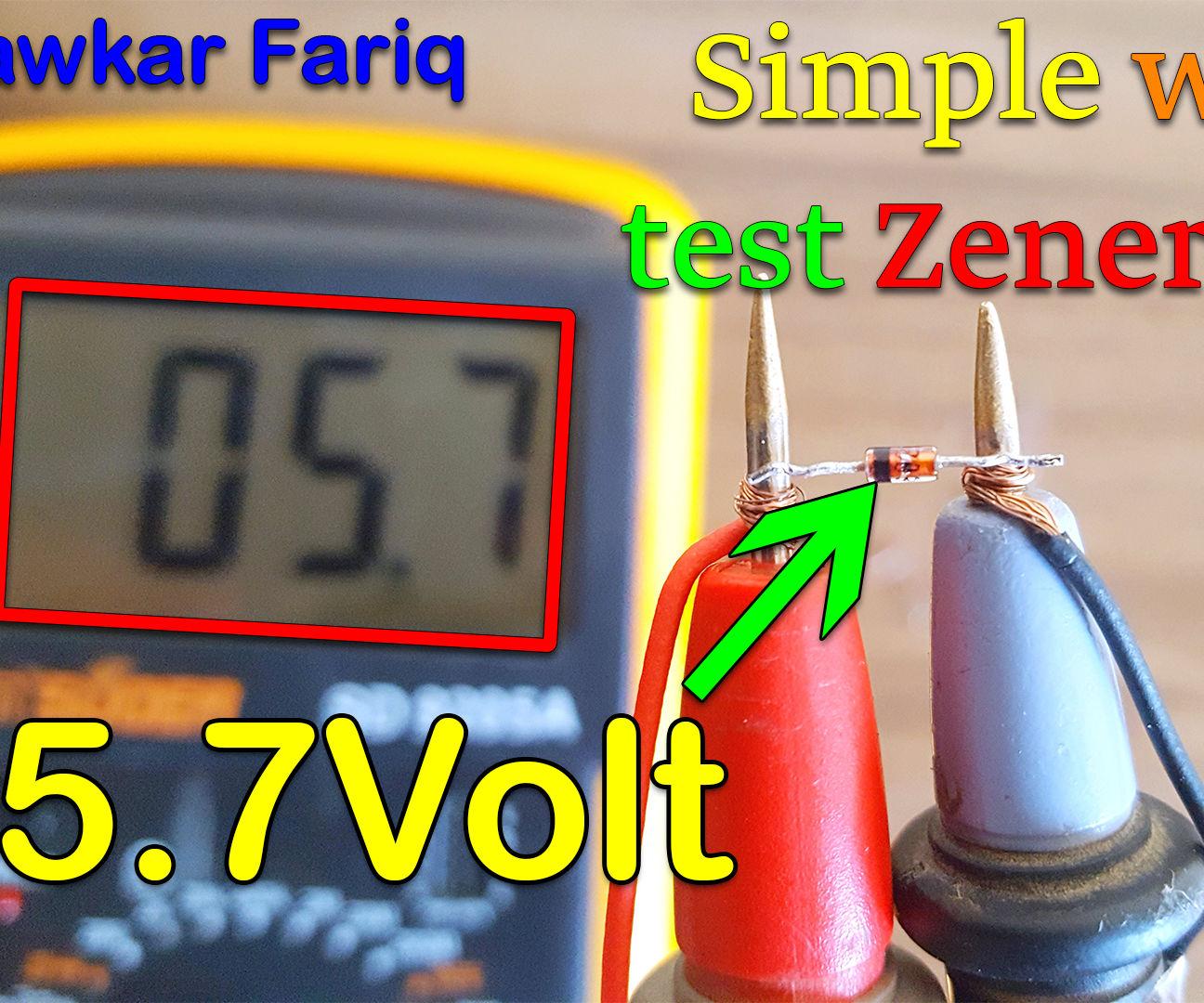 Find Voltage of Zener Diode