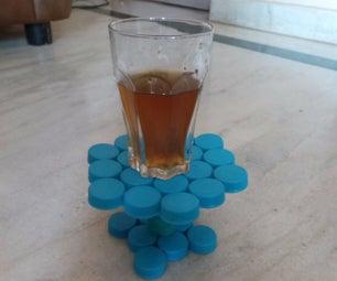 Plastic Bottle Cap Coffee Glass Holder!