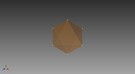 Convert the Octahedron 3D Sketch to a Solid
