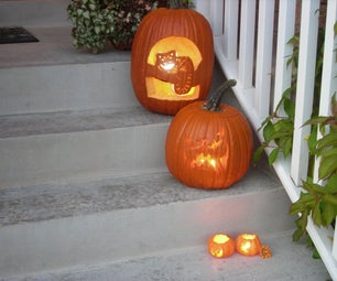 Cheshire Cat Pumpkin Animated With LEDs