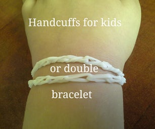 How to Make Little Hand Cuffs Out of Crazy Loom Bands for Little Kids or a Double Bracelet
