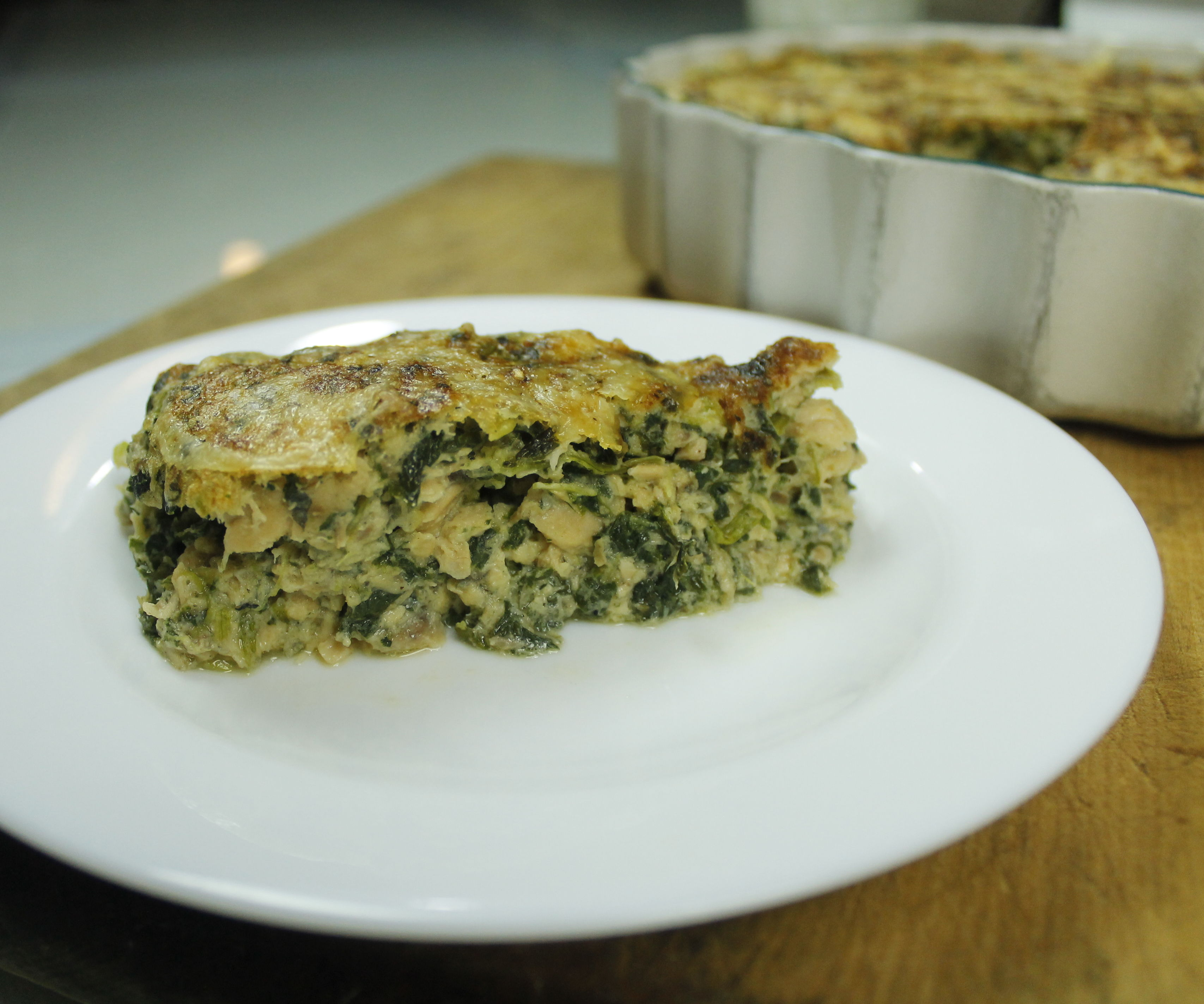 Salmon and Spinach no-fuss Souffle