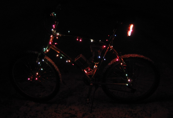 The Holiday Bicycle: How to run Christmas Lights on your Bike