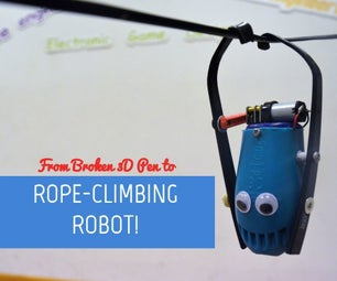 Rope-climbing Robot From a Broken 3D Pen