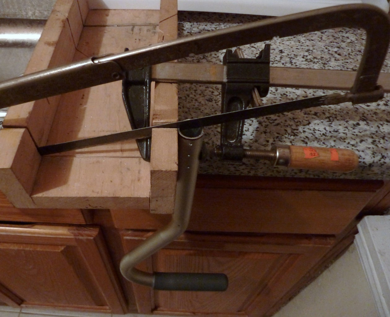 Mark, Drill, Cut  the Aluminum Cane