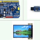 Arduino and Infra-Red (IR) Obstacle Detection / Proximity Sensing / Line Counter, With 320x480 LCD Interface