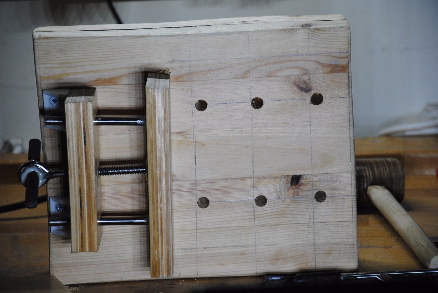 Mark & Drill Holes in the Base (28X22's)