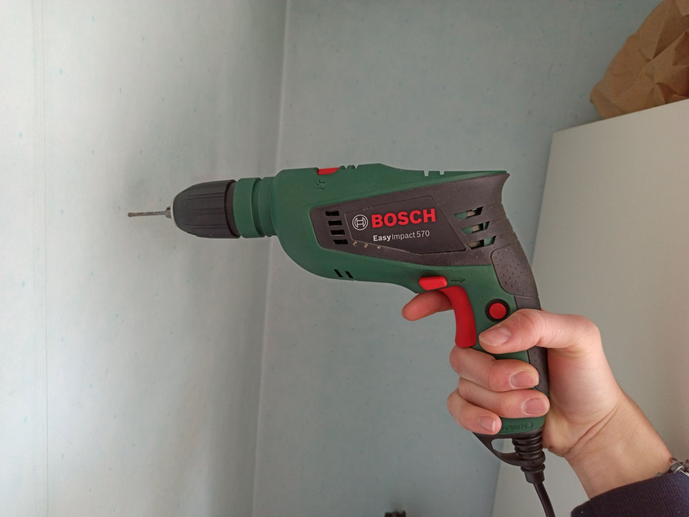 Drill the Wall and Insert the Plugs