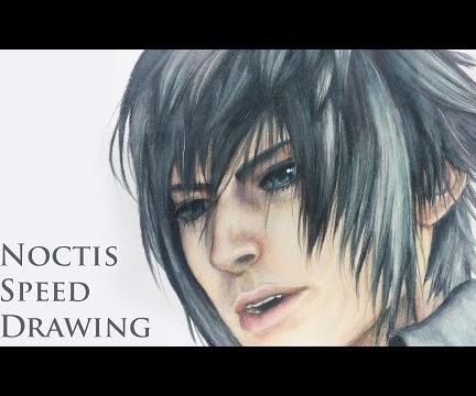 [ Noctis ] - Final Fantasy XV - Painting Process Using Colored Pencils