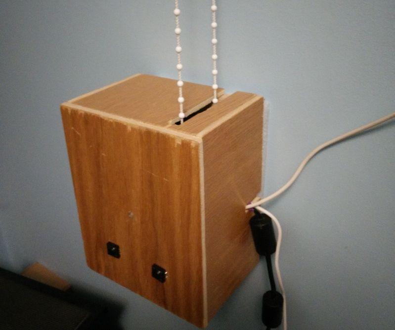 Blind Opening Alarm Clock
