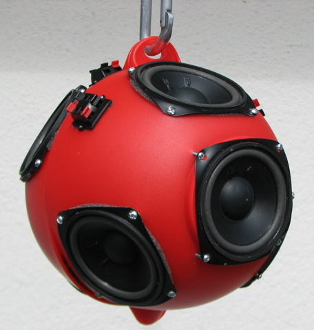 Low-cost Spherical Speaker Array