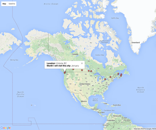 Create a Clickable Google Map to Share Geographic Information and Metadata