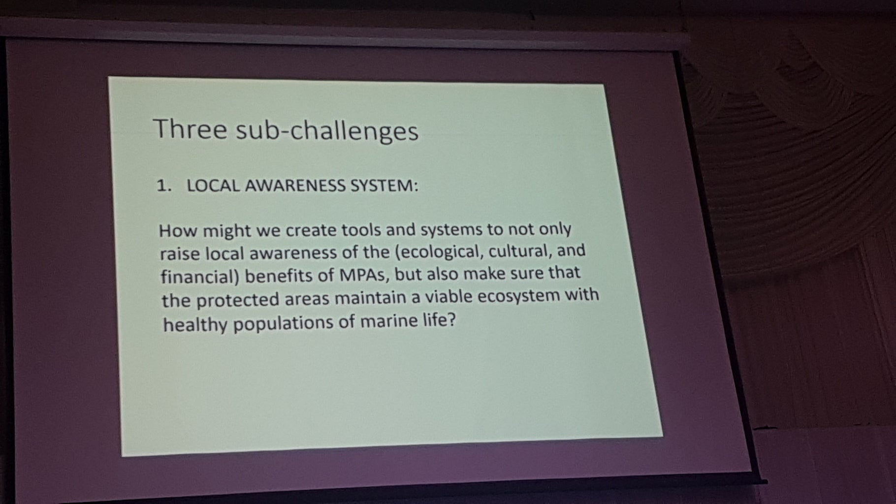Why? Monitoring Marine Protected Areas, Mapping Coral Reefs
