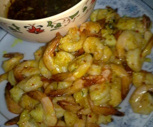 Crispy Stir Fried Prawns With Chinese Dipping Sauce